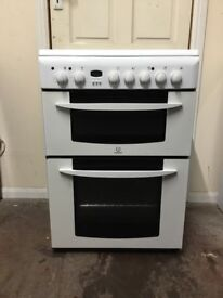 Indesit electric cooker KD6C35W 60cm double oven 3 months warranty free local delivery !!!!!!!!