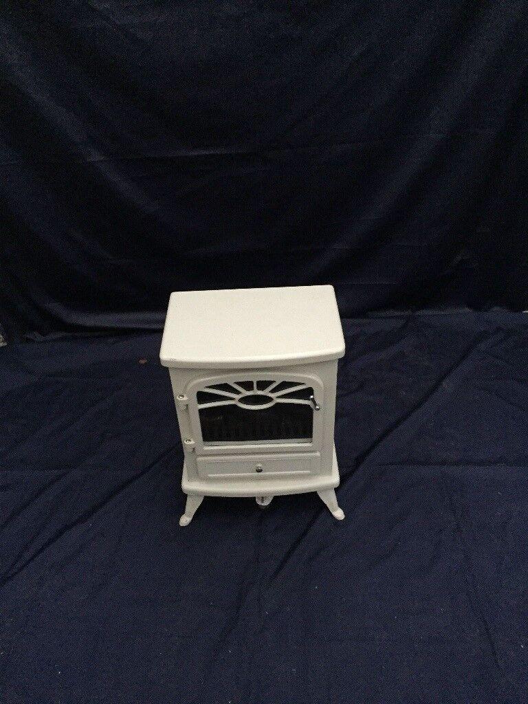 Small cream electric stove