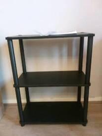 Black 3 tier verona shelving unit brand new