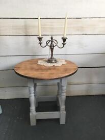 Rustic oak side table