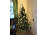 6ft pre lit Christmas tree with decorations
