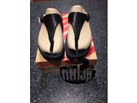FITFLOP Black Size 6 BRAND NEW IN BOX RRP £60