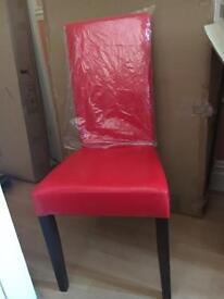 Red dining chairs new X6
