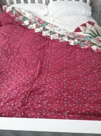 Beautiful double bed throw