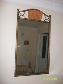 rustic mirror and clock - lovely condition ng6 area