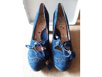 Miss L Fire blue suede pumps Size 41
