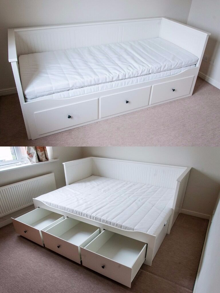 ikea hemnes double bed mattresses in kingston london gumtree. Black Bedroom Furniture Sets. Home Design Ideas