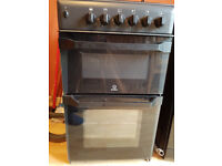 Black Indesit Gas Cooker