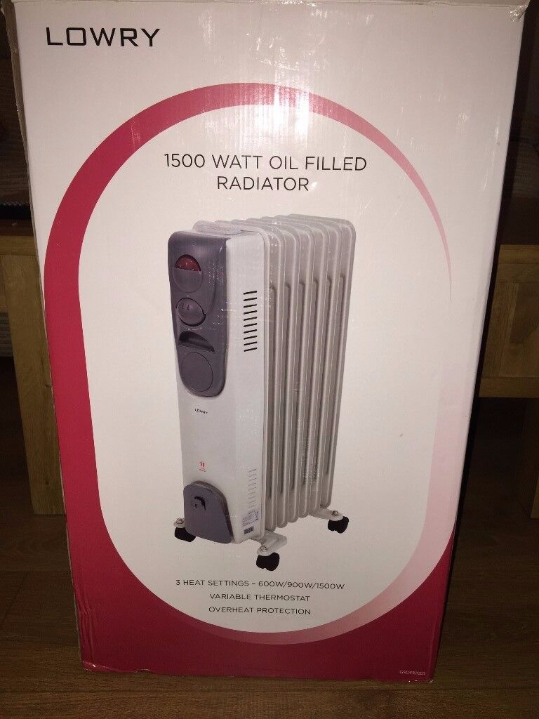 LOWRY 1500 WATT OIL FILLED RADIATOR NEW BOXED
