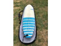 "Surfboard; 7'4"" Tri-fin Mini-Mal"