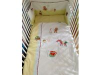 "Mama & Papa's ""Gingerbread"" bedding set, beautiful condition"