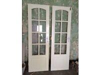 Glass pane doors