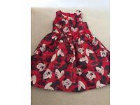 Minnie Mouse girls dress 7-8yrs