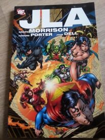 2 Justice League and Sin City 2 and Promethea books to sale