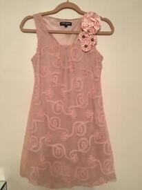 Peach /pinky dress size 10