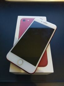 Apple iPhone 7 (PRODUCT)RED - 128GB - (EE) - APPLE WARRANTY - Excellent Condition - All Original Acc