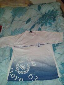 Henri Lloyd blue & white tshirt / top