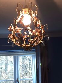 BHS pink and white metal work light fitting