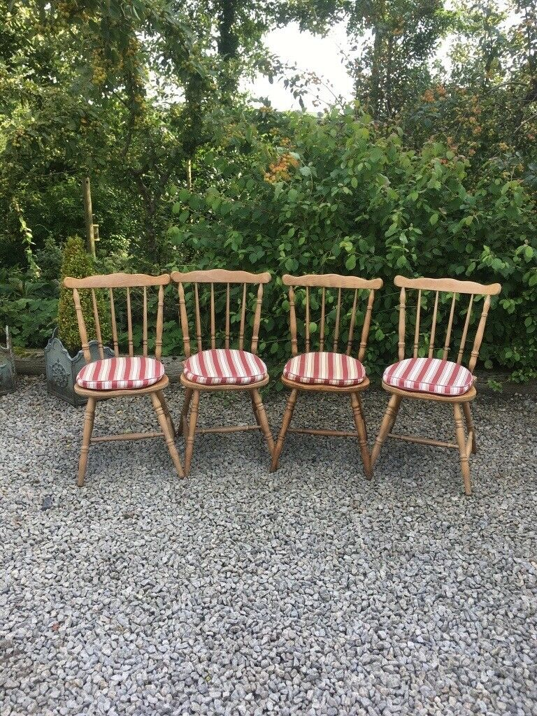Set of four kitchen chairs possibly elm launceston