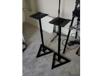 Pair of Quik-Lok Heavy Duty Monitor Speaker Stands
