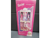VINTAGE BOXED BARBIE DOLL DISPLAY SHELF UNIT NEVER ASSEMBLED GOOD CONDITION