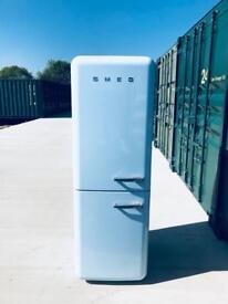 Baby blue Smeg fridge freezer