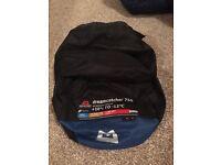 Mountsin equiptment , dreamcatcher 750 sleeping bag , little use as new