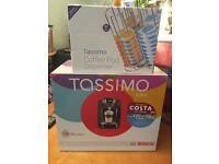 Brand new Tassimo coffee machine and pod dispenser
