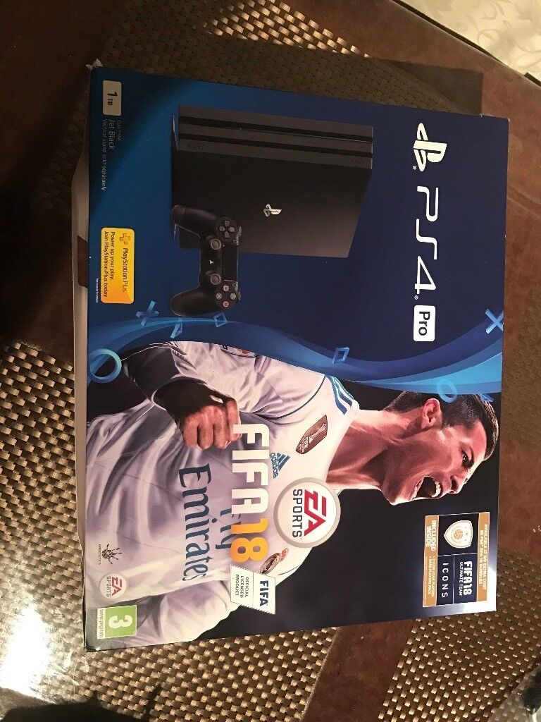 Ps4 Pro 1tb With Fifa 18 Brand New Sealed In Whitechapel London Sony Slim 2006 500 Gb Game 17