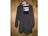 Girls 3-4 Years Long Sleeved Playsuit + Tights with Mickey Mouse detail