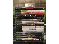 Original X Box with 15 games and steeling wheel/pedals. 3 x controllers