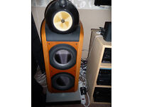 B&W 800D speakers finished in cherry