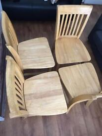 Real Wood Dining Table with Chairs(04)