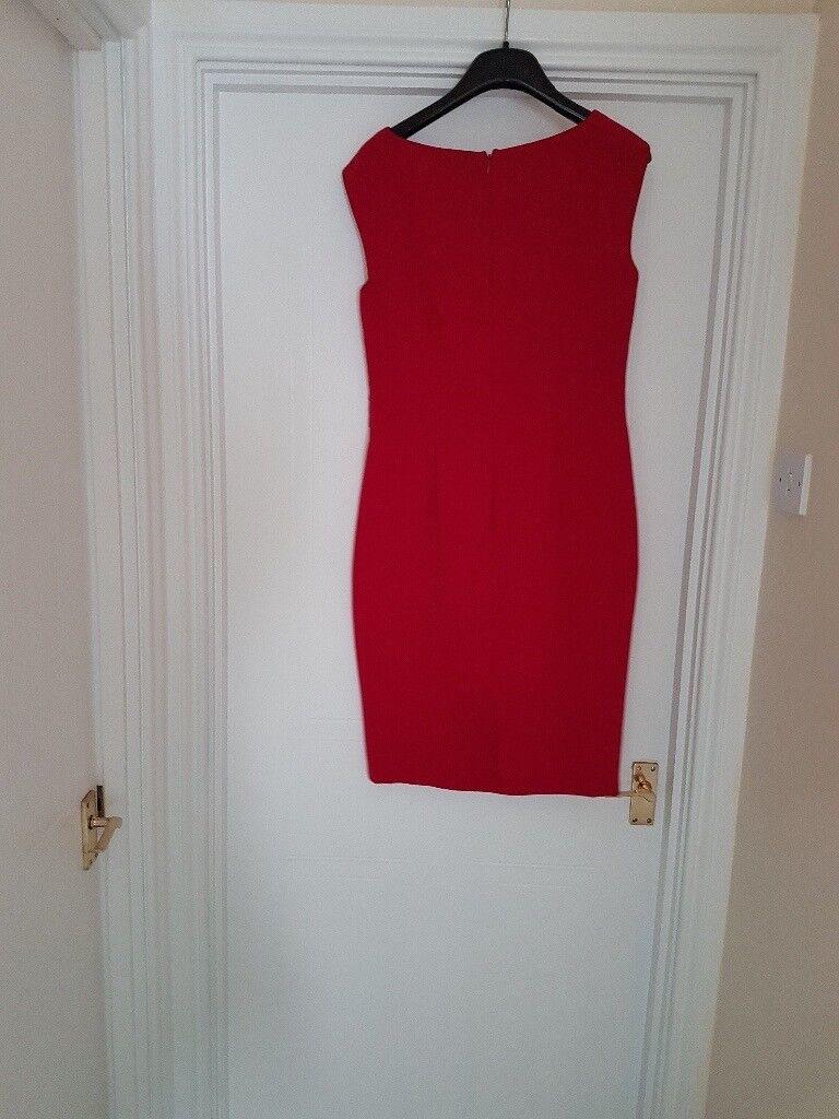 Red Linea shift dress size 12