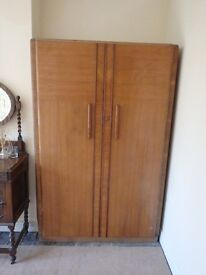 Large wooden wardrobe free to good home, buyer to collect