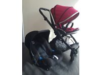 Oyster 2 pushchair and Britax car seat
