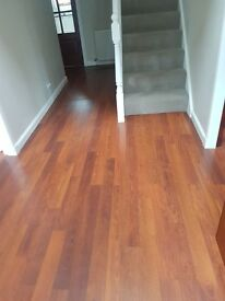 49 square metres of high quality laminate flooring