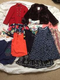 GIRLS DESIGNER CLOTHES BUNDLE, DESIGUAL, GAP, AND MORE. AGE 7-8,