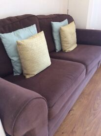 Brown 3 seater sofa. Great condition