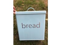 Large teal bread bin
