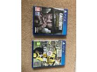 PS4 Games ( Call of duty WW2 & FIFA 17)