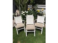 Shabby Chic Carved Oak Dining Chairs