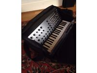 Korg MS-20 mini semi-modular analogue synthesiser - with carry and and cables etc.