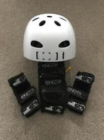 Scooter Helmet and Pads