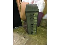 Bisley metal cabinet 9 draws A4 paper size second hand