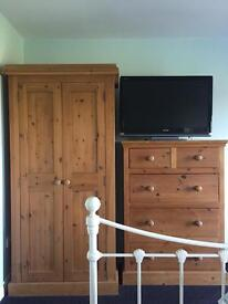 Wardrobe, chest of drawers and two bedside tables