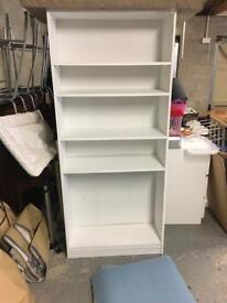 White bookshelf bookcase