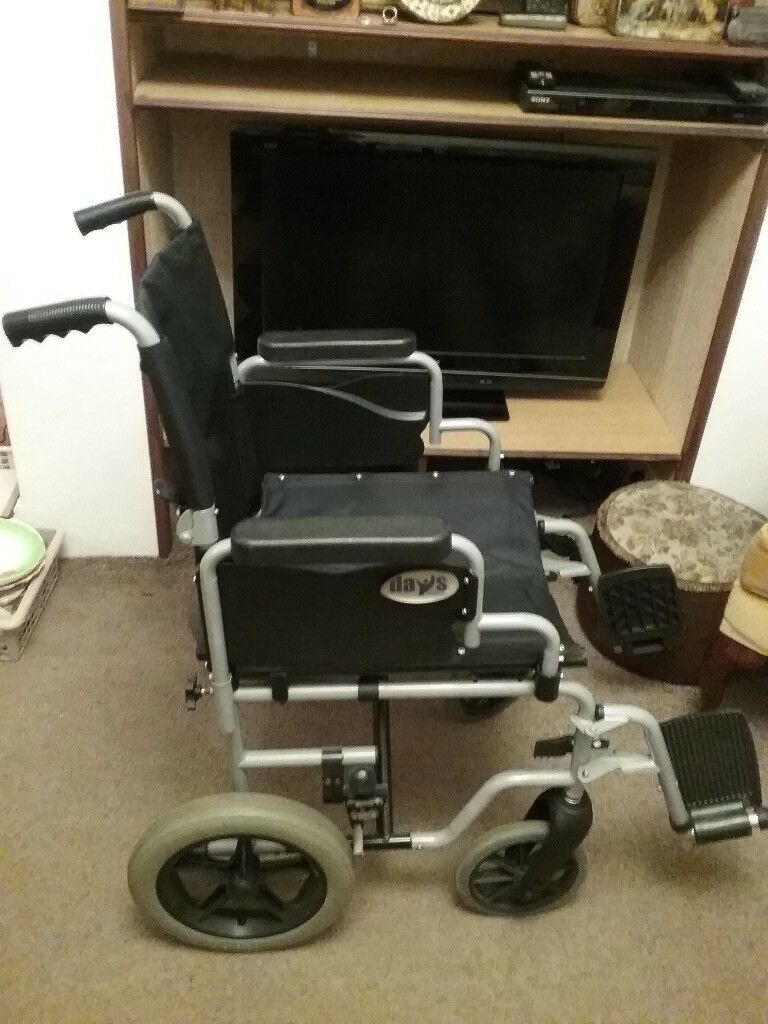 Days WHIRL43TR manual wheelchair- substantial yet foldable for easy storage