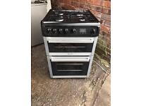 Hotpoint black and silver Cooker 60cm