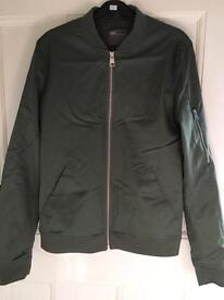 Muscle Fit Bomber Jacket With Sleeve Zip